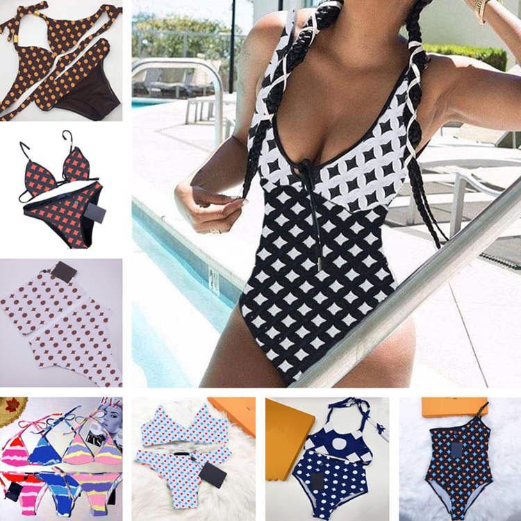 Impresso Womens Bikinis Swimsuit Underwear One Shouler Senhoras Sexy Biquini Verão Beach Nadar Mulheres Banheira Terno