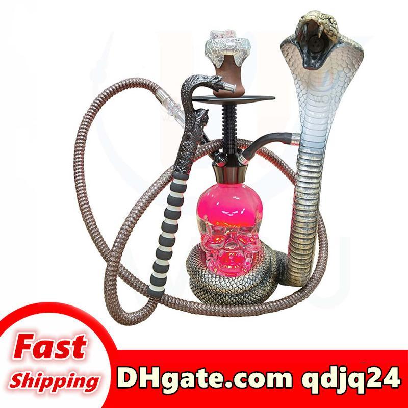 Commercio all'ingrosso e al dettaglio narghilli arabian arabian tubo dell'acqua bong cobra forma 7kg grande design