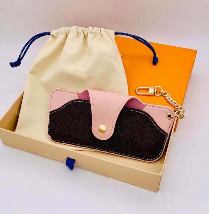 Glaskoffer Gläser Tuch weibliche kreative Retro Renezigkeit Tragbare männliche männliche mahlete Leder Sonnenbrille Myopie Brillen Fallpaket