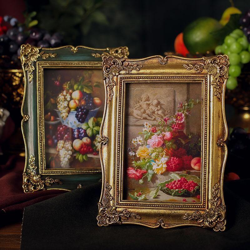 إطارات خمر الراتنج po الإطار الإبداعية شخصية الباروك الأزياء الجمالية ماركو دي fotos غرفة نوم الديكور EI50XK