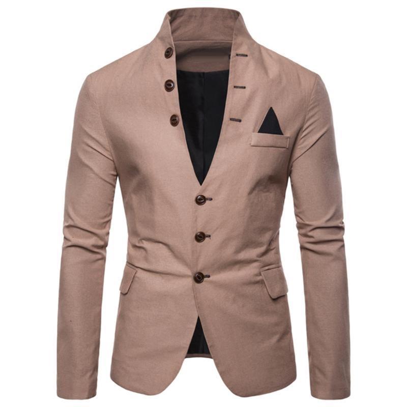 Uomini sl-im fits social blazer primavera autunno moda solido abito da sposa vestito da uomo casual business maschile giacca giacca blazer delicato