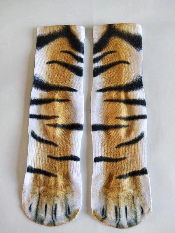 men socks mens socks Four Seasons Personalized 3D Printing Animal Foot Hoof Sock Adult Printing Socks Cartoon Three-dimensional Fashion