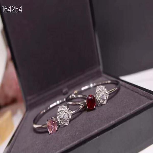 """Pulsera abierta de rubí elegante de estilo caliente popular La lujosa key-2 de lujo diseñador de lujo """"mujeres pulseras"""
