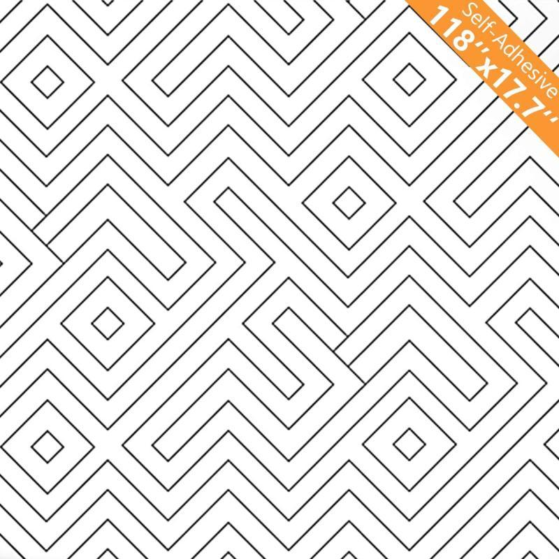 Siyah Beyaz Soyma ve Sopa Duvar Kağıdı Modern Geometri Şerit Çıkarılabilir Kendinden Yapışkanlı Film Dekoratif Duvar Duvar Kağıtları Duvar Kağıtları