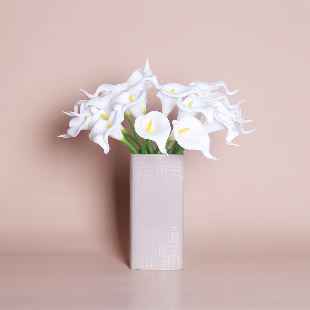 Real Touch Искусственный цветок Calla Lily Faux Цветочная вечеринка Свадебные Цветы Главная Садовое Украшение