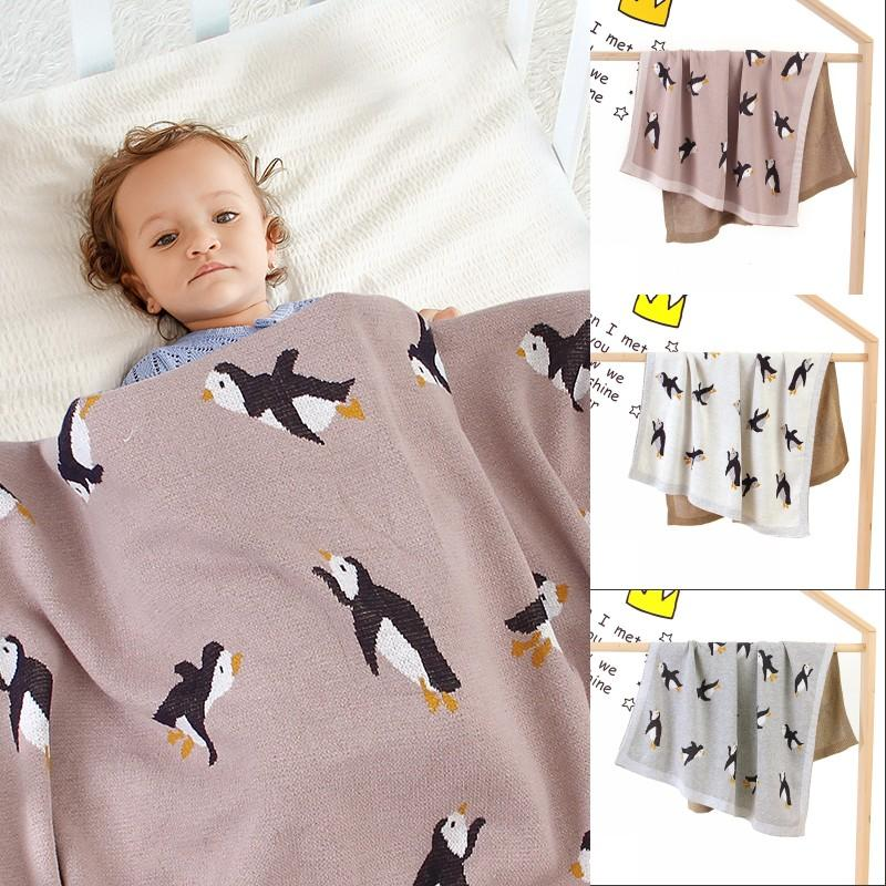 Baby Blankets Knitted Newborn Swaddle Wrap Blanket Sleep Sack For Stroller Bedding Covers Cartoon Infantil Bebes Quilts 100*80cm 851 X2