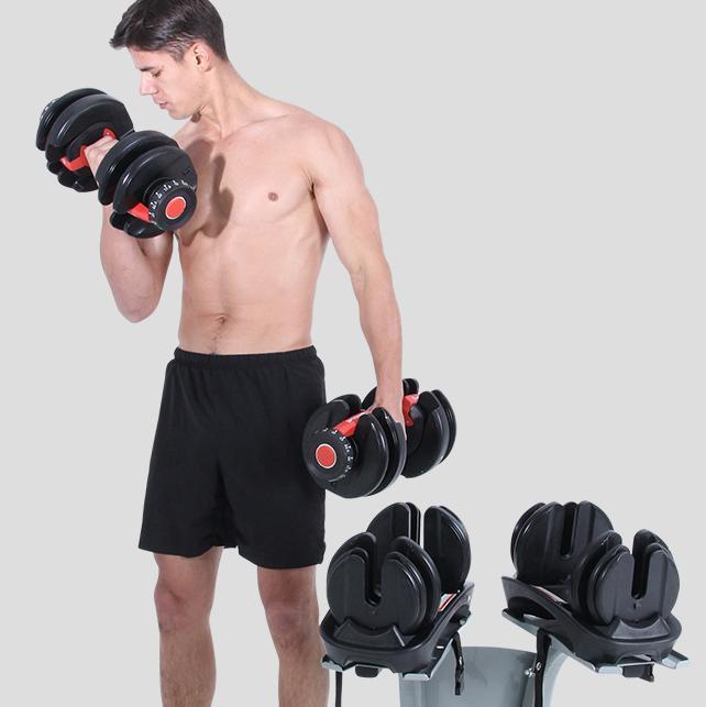 Drop Home Fitness Equipment 40 Kg Removable Weight 24kg 52.2LBS For Men And Women Adjustable Dumbells Dumbbells