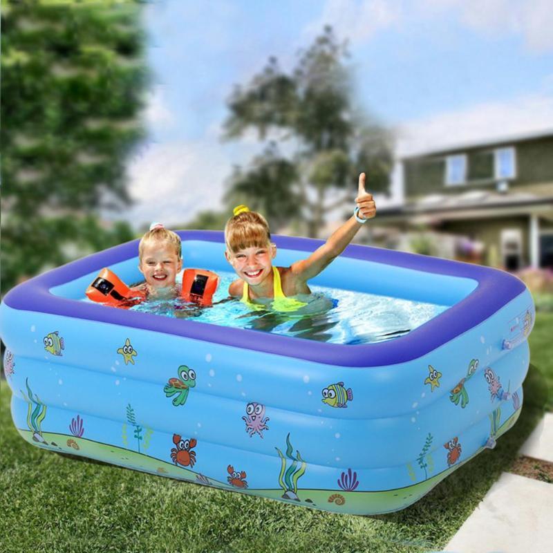 بركة الملحقات 1.3 متر حمامات المحمولة للأطفال نفخ حوض استحمام الطفل مستطيل السباحة تفجير طفل اللعب البلاستيك الصلب