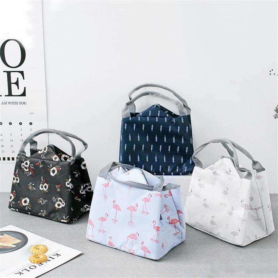 8 Style Portable Flamingo Lunch Bag Cooler Bag Thermal Insulation Bags Travel Picnic Food Lunch box bag BWE9381