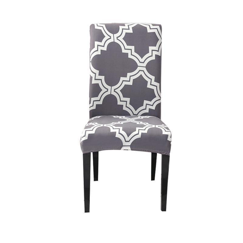 Coperchi sedia Cover per ufficio stampato Modern Dining Spandex Elastic Slipcover Caso di seduta cucina per matrimonio per banchetti