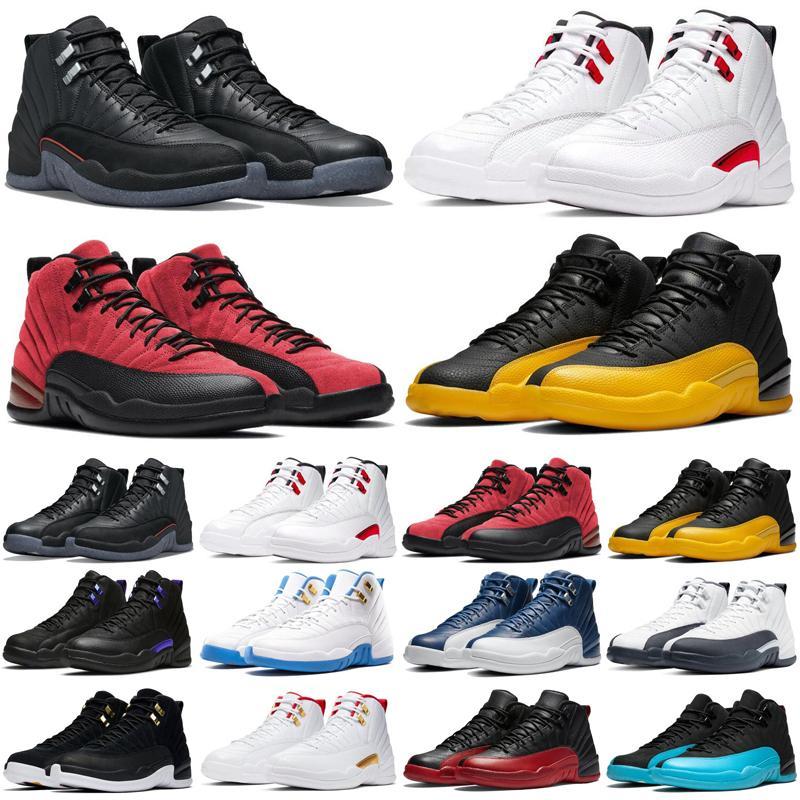 Jumpman 12 12s hommes chaussures de basket-ball x Gris foncé inversée Taxi Jeu Royal Hot punch formateurs hommes athlétiques de taille de sport 7-13