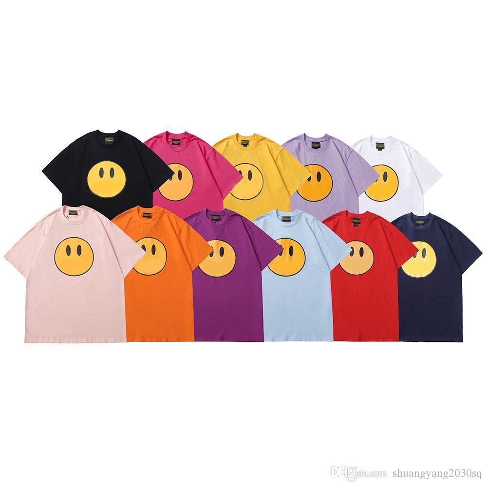 Summer High Street T-shirt House Smiling Face Justin Bieber T-shirt manica corta per lo stesso maschio e coppia di coppia