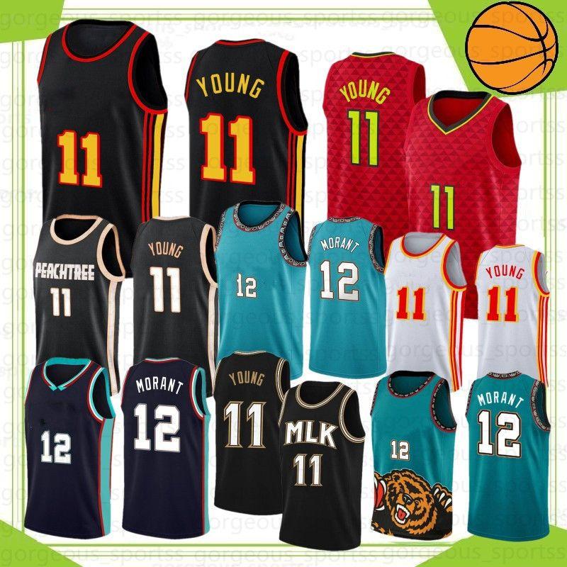 JA 12 Ahlaki Koleji Basketbol Formaları Zion Trae 1 Williamson 11 Genç 23 Stok S-XXL 2021 Yeni Camisetas de Baloncesto