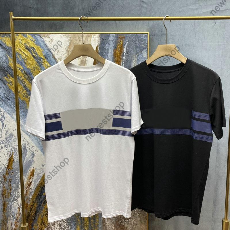 2021 Lleve de lujo Impresión Tshirts Spring Summer Hombre Pareja Color Sólido Tira transpirable Impresión T SHIRT Camiseta del diseñador de Casaul