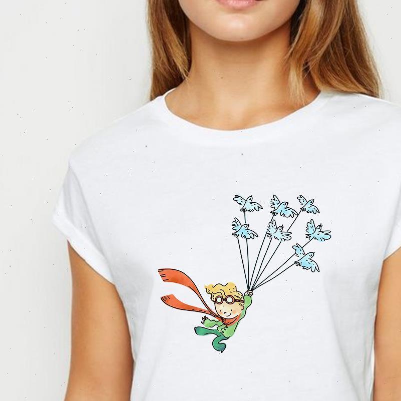 T-Frauen-Hemd Frauen junge Prinz Hemden Stil Ropa Mujer Frühling Sommer passender runder Hals