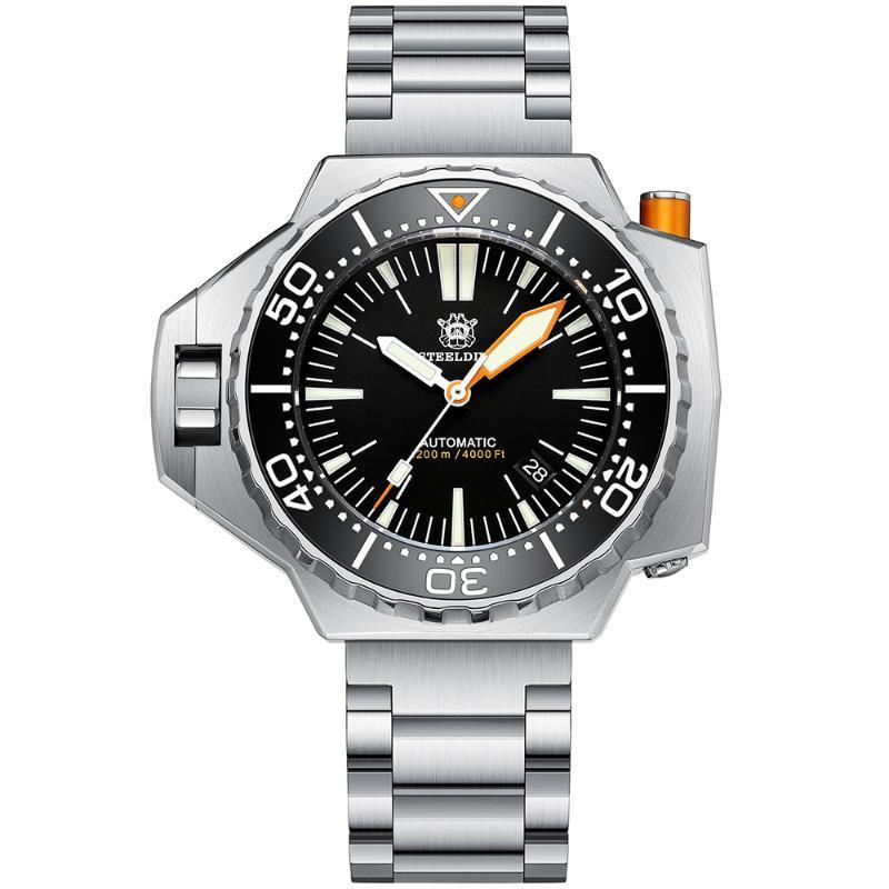Armbanduhren SD1969 1200m Wasserdichte luxus armbanduhr japan nh35 bewegung super bgw9 leuchtendes stahldive design mechanisches männer tauchen watc