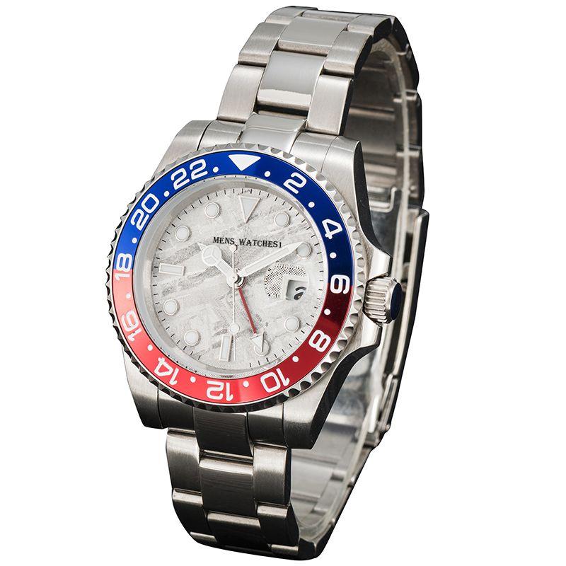 Mens automático relógios mecânicos Montre de luxo de aço inoxidável de aço inoxidável de aço inoxidável 5 ATM impermeável super luminosos homens relógios de pulso para relógio de fábrica U1