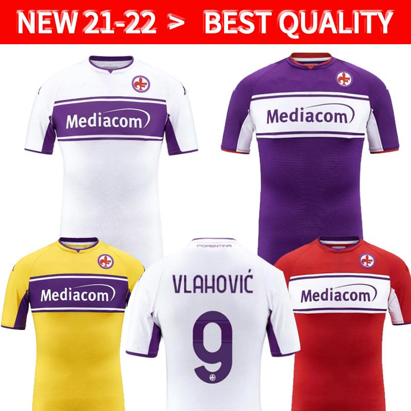 2021 2022 Fiorentina Jerseys de fútbol Ribery Callejon Prince Pezzella Chiesa 21/22 Firenze soccer jersey Vlahovic Maillot de Pie Florence Football Shirts