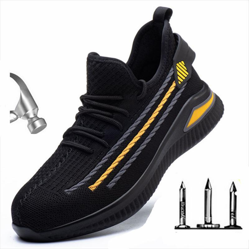 Boots Fashion Men Designer Steel Toe Cap Indestructible Anti Smashing Protective Safety Shoes Work