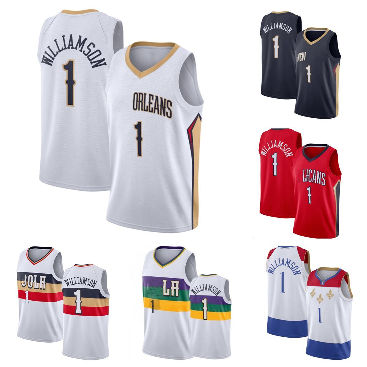 2021-2022 Hochwertige genähte Basketball-Trikots Zion-Williamson