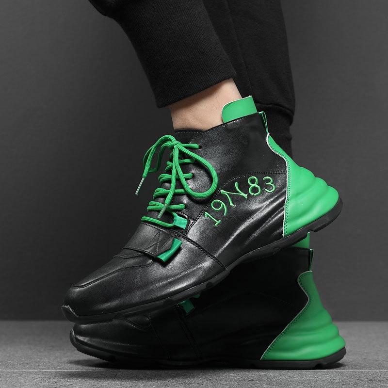 Boqin Erkek Sneakers 2021 Yaz Yeni Trendy Lace Up Yüksek Ayakkabı Erkek Ayakkabı Erkek Rahat Ayakkabılar