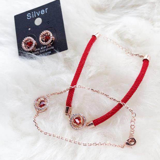 1990 Schmuck 925 Hand Schlagen Herz Reine Silber Rotes Seil Mode Lässige Armband
