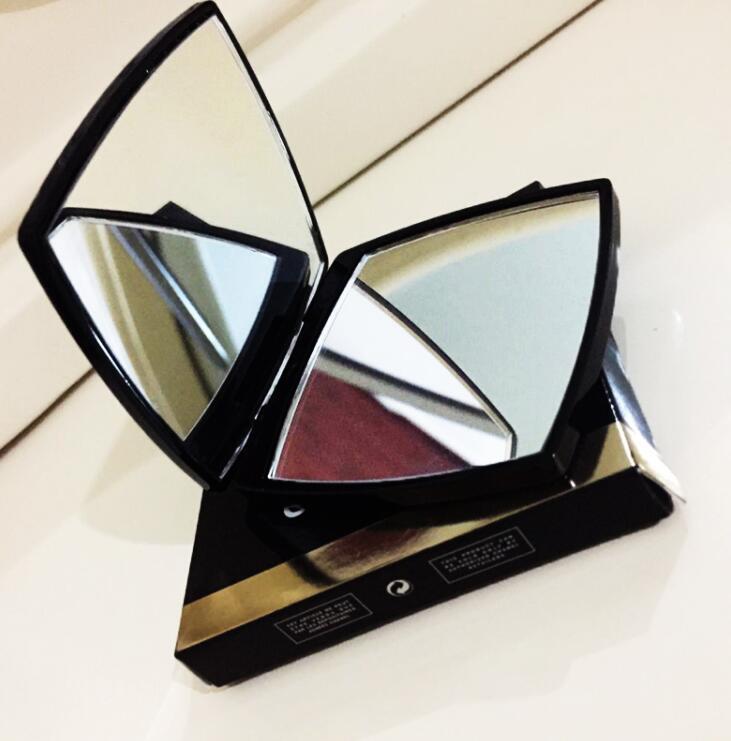 Diseñador de lujo make doble espejo lupa cosmético plegable plegable compacto compacto espejo tiene caja + bolsa con logo