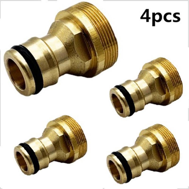 Equipamentos de rega 4 piece conector 4 pcs conectores de latão m22 fêmea m24 macho rosqueado