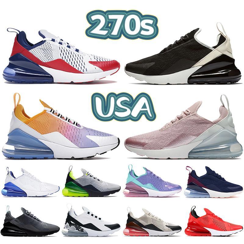 Nouveau 270s hommes chaussures de course esprit Seattle Away sarcelle Bred blanc université rouge huile gris hommes femmes formateurs baskets US 5.5-11
