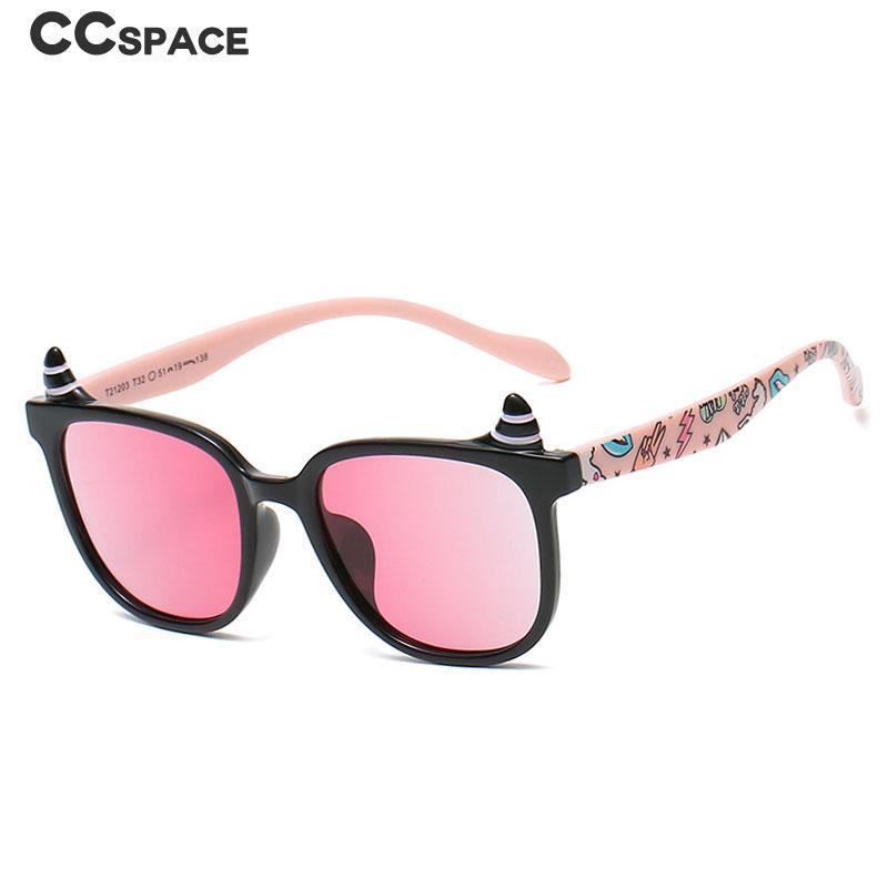 Lunettes de soleil 47434 Enfants Polarized Outdood Shades Student Protégez les yeux Corne Forme Fashion UV400 Vintage lunettes