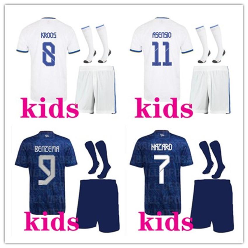 kits de football pour enfants 2019 2020 Maillot de football du Real Madrid 19/20 accessoires de danger DANGER BENZEMA ISCO MODRIC