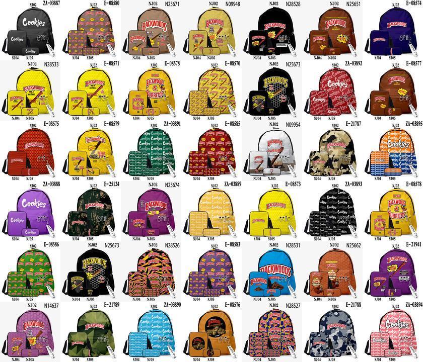 3D Backwoods Mochilas 3 Pçs / Set Caderno Mulheres Backwood Imprimir Senhora Infantaria Pacotes Saco de Viagem Para Meninos Oxford Ao Ar Livre Mochila Jllpbq