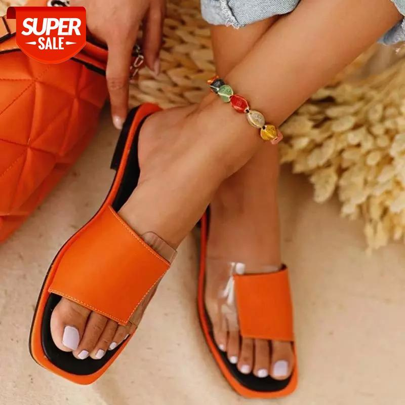 Summer Women's Flat Slippers Ladies Casual Patchwork Open-toe Mixed Color Outdoor Beach #b19D