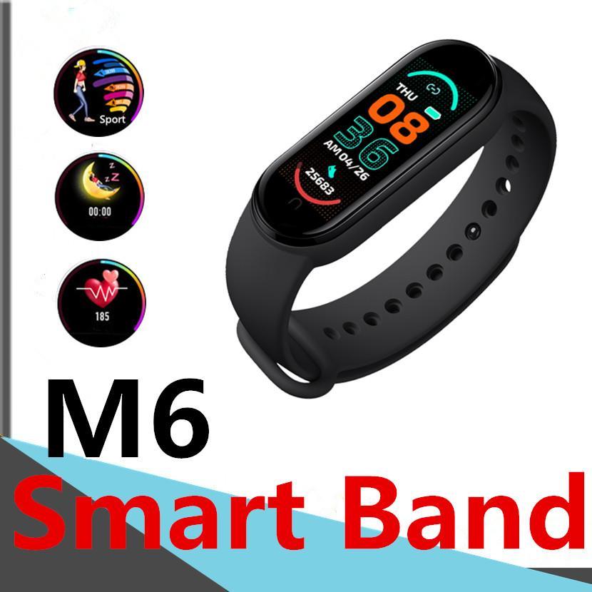M6 الأساور القلب معدل ضربات القلب ضغط الدم مضغات الرياضة المستقرة تذكير اللياقة تعقب دعوة تذكير IP68 للماء T500 الذكية ووتش M5 مي باند 6