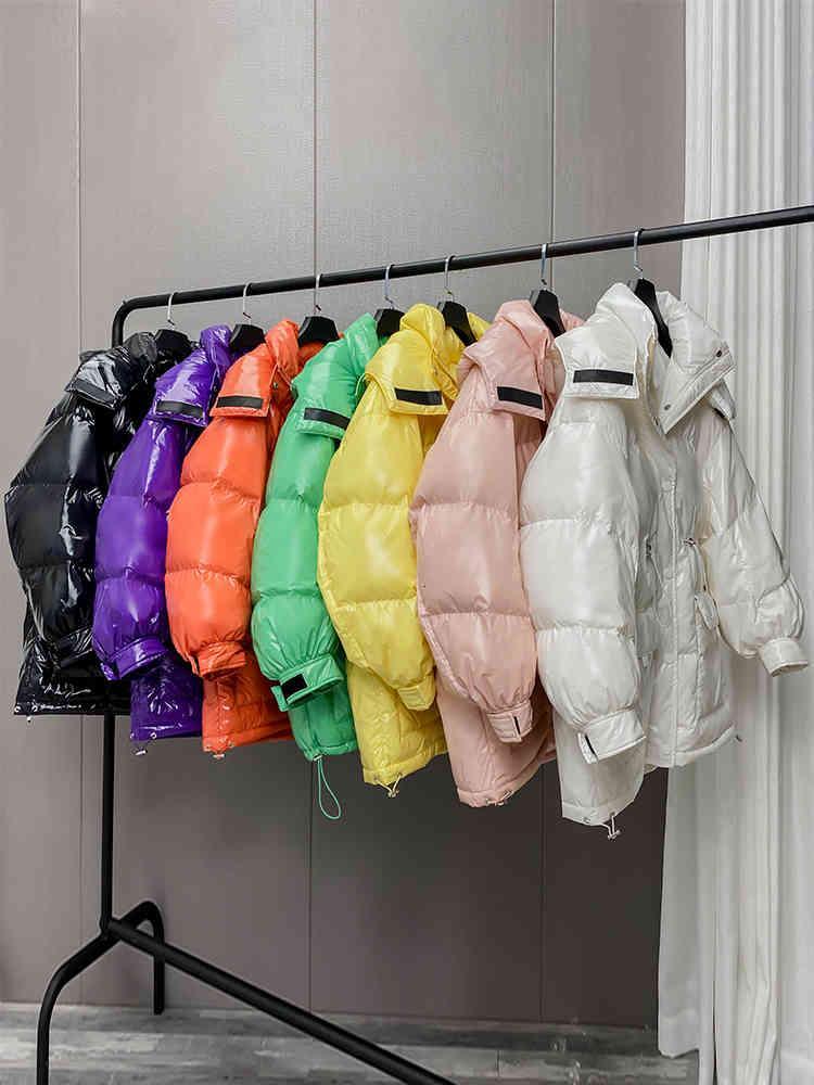 Giacca invernale da donna cappotto coreano femminile con cappuccio parkas 90% anatra bianca giù giacche moda 2021 Mujeres Abrigos PPH2146
