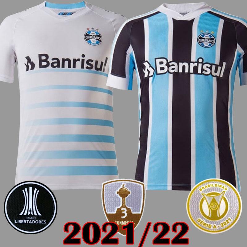 2021 Gremio Futebol Jerseys Guilda Giuliano 21 22 Ramiro Geromel Luan Maicon Fernandinho Jersey Homens Mulheres Training Colete Camisas de futebol Tailândia