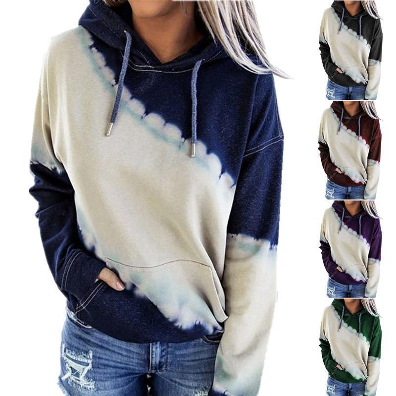 Hoodies das mulheres moletom mulheres outono inverno streewear fêmea leopardo impressão senhoras roupas casuais sy200808