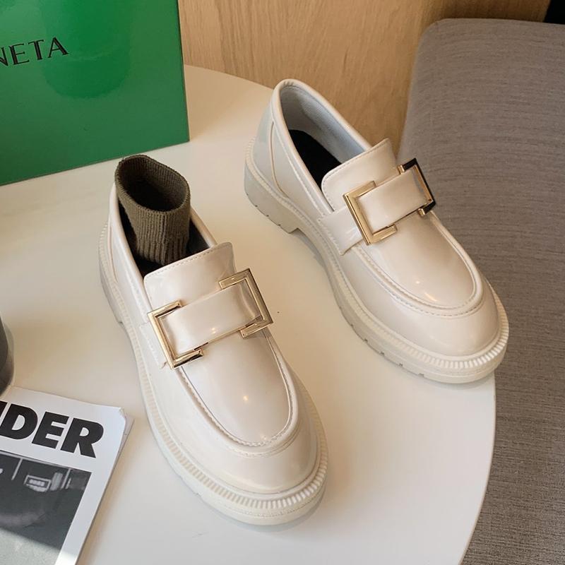 النساء الأحذية الجلدية أوكسفورد النمط البريطاني 2021 الربيع منصة مريحة عارضة أحذية امرأة الشقق أحذية أكسفورد