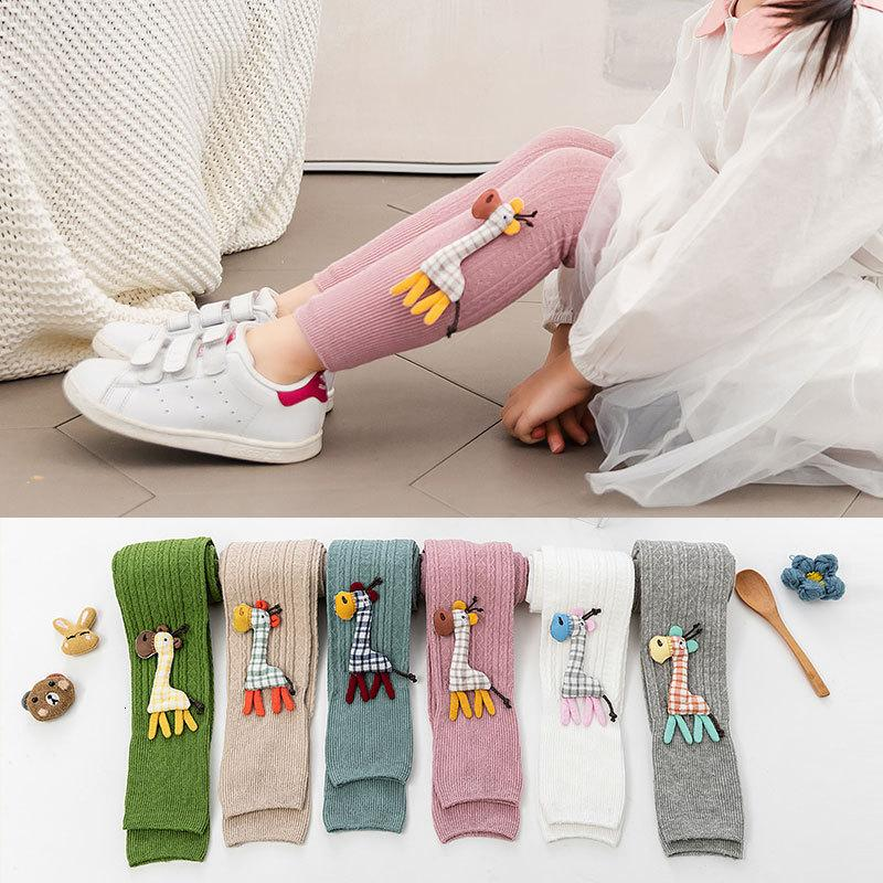 Kid Leggings For Girls Cotton Infant Baby Toddler Newborn Boys Solid Casual Stockings Children 0-4T Winter Warm Pant 779 V2
