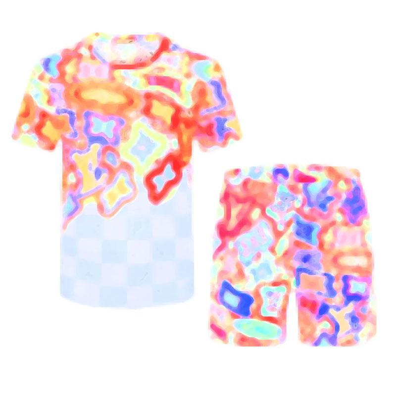 2021 Мода Мужские Сцепления Дизайнеры Мужчины Мужчины Комплект Набор Мужской Коротким Рукавом Письмо Тонкая Одежда Беговая дорожка Kit Повседневная Спортивный Костюм M-3XL