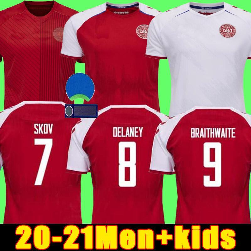 يورو 2020 كأس الدنمارك لكرة القدم جيرسي إريكسين 2021 شميشيل كجن كريستنسن سكوف ديلاني Braithwaite DBU المنزل الثالث الثالث DALSGAARD LASSL SITGER Yurary