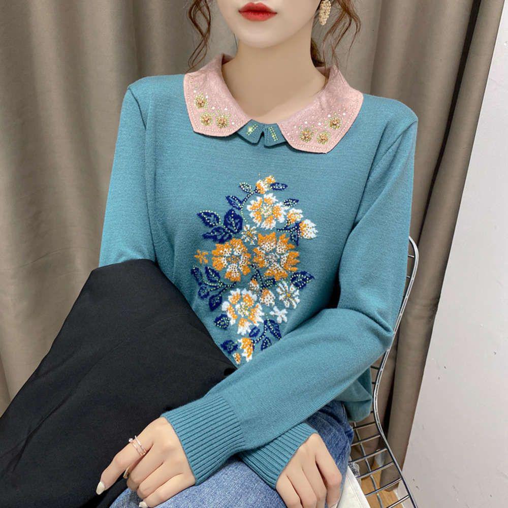 Maglia con scollo quadrato del maglione del maglione del trucco con vestiti autunnali e invernali