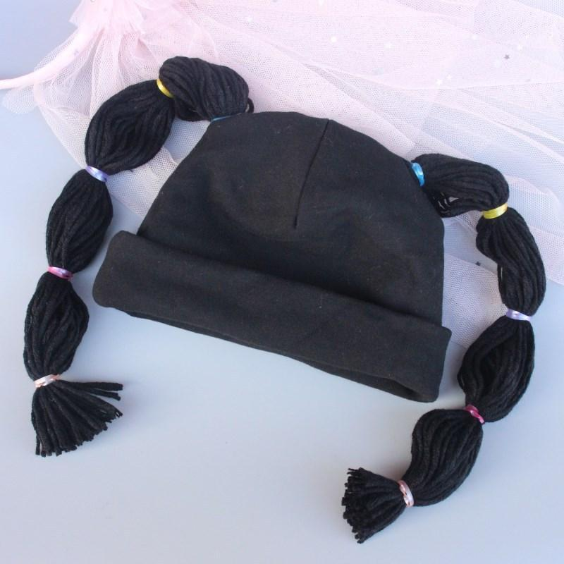 Caps & Hats Children Cotton Hat Autumn Winter Baby Kids Girls Boys Soft Warm Braid Ear Protection Wool Ruffle