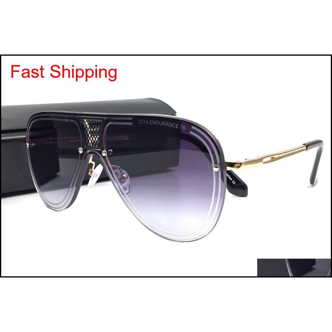 Рамки аксессуары Drop Доставка 2021 Роскошные Солнцезащитные очки Мужчины Дизайн Винтажные Солнцезащитные Очки Стиль Стиль Стиль квадратный Металлический Рамка Негабаритные Солнцезащитные Очки УФ