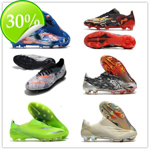 2021 Messi X Ghosted.1 Hassas Ayakkabı Bulanıklık FG Erkek Kadın Erkek Ghosted .1 Dantel-up Futbol Ayakkabı Çizme Futbol Kelepleri