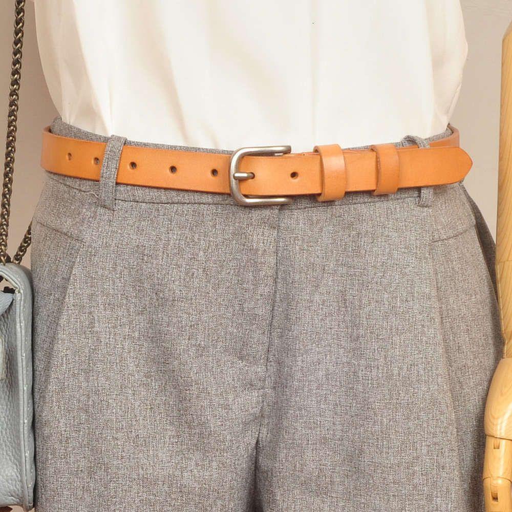 Модные аксессуары Итальянский овощной заготовки ручной работы первичный кожаный ремень для женщин
