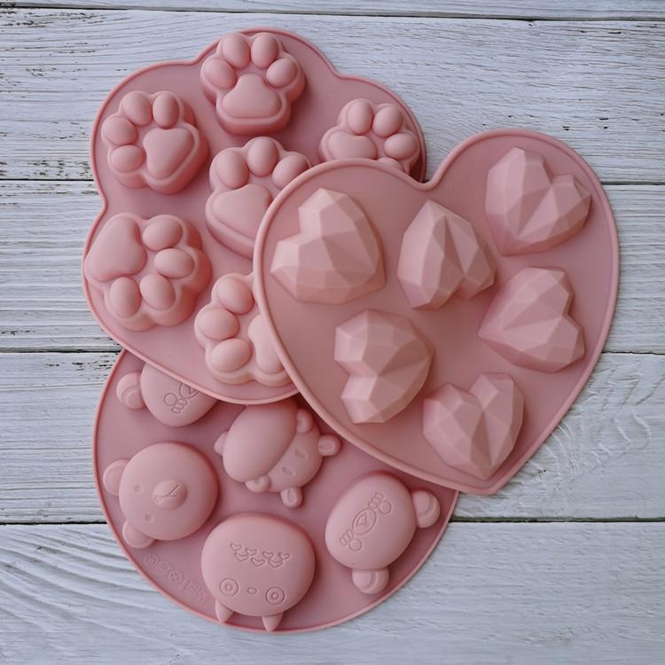 أنواع سيليكون العفن فندان الشوكولاته الحلوى الصابون العفن فرن البخار مفيدة أدوات تزيين الكعكة الراتنج