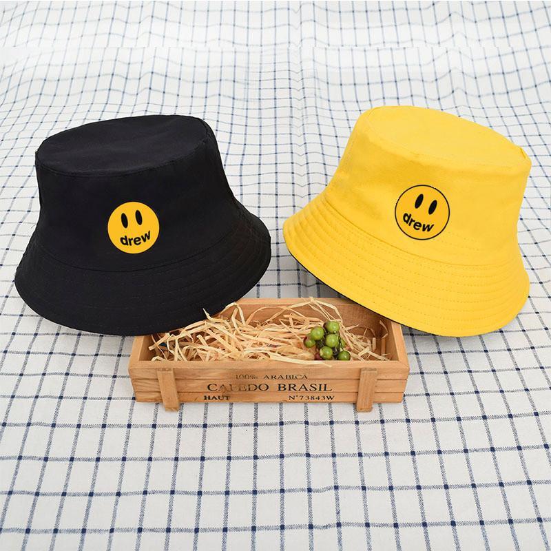 Chapéu de balde Drew sorrindo rosto primavera e verão moda fisherman mulheres mulheres