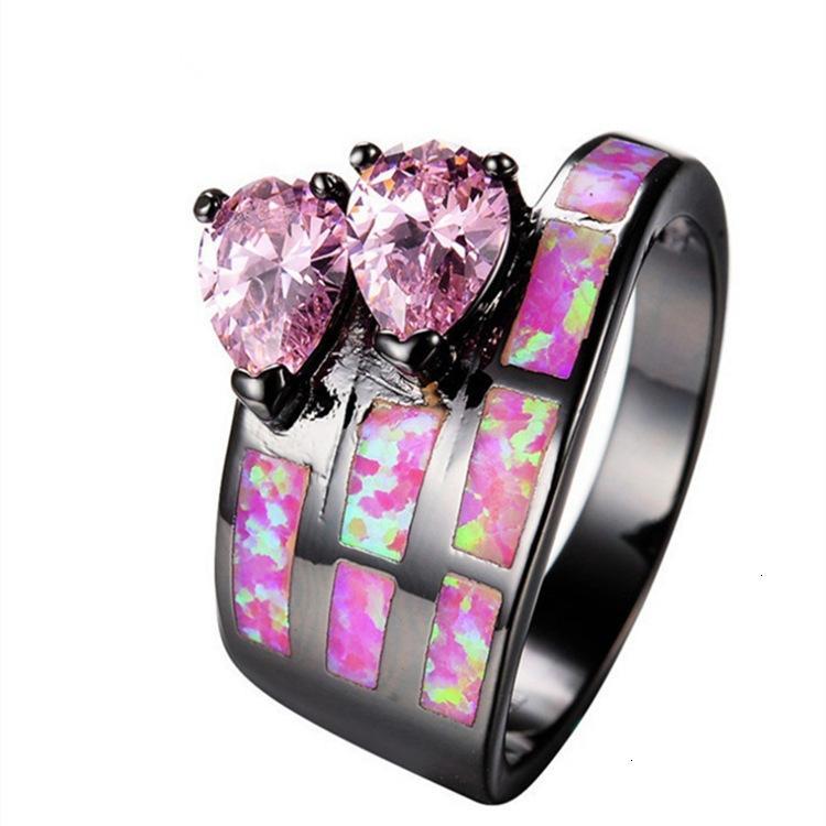 Anel rosa chenrui jóias aobao mão jóias simples moda peça