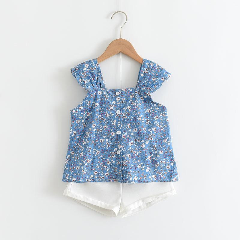 Urso líder meninas roupas verão meninos bebê meninas conjuntos de roupas de impressão t-shirt curta 2 pcs crianças roupas 2-6y roupa menina 1175 x2